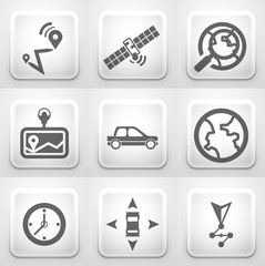 Set of square application buttons: navigation
