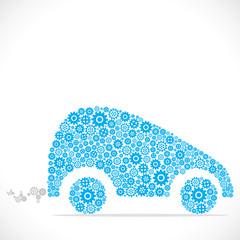 car design with blue gear stock vector