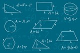 Geometry lesson - blackboard formulas