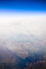 Aerial view from an airplane / Aerial view