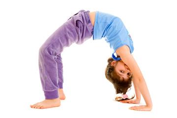 girl  gymnast , isolated