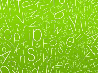 mélange de lettres - fond vert