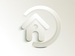 abstract home icon button