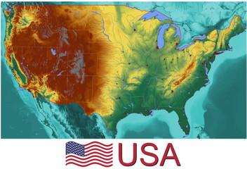 United States of America  national emblem map symbol motto