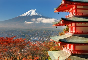 Mt. Fuji and Pagoda © SeanPavonePhoto