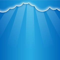 Fondo con nubes y rayos