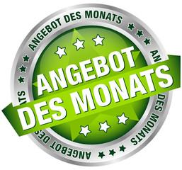 """Button Banner """"Angebot des Monats"""" grün/silber"""