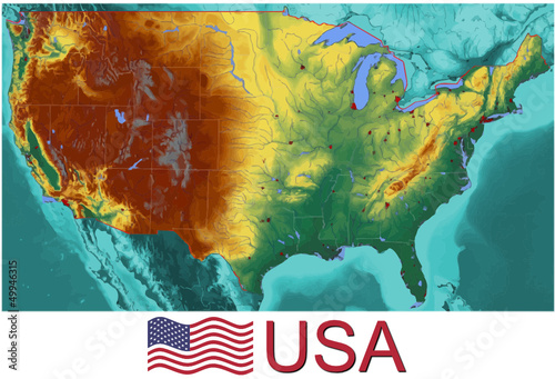 United States of America  national emblem map symbol motto