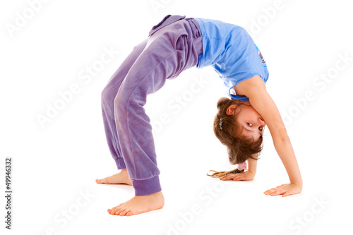 girl  gymnast , isolated