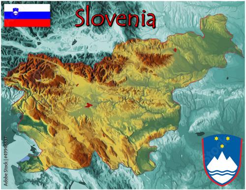 Slovenia Europe  national emblem map symbol motto