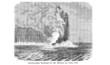 Unterseeischer Vulkanausbruch (Alte Lithographie)
