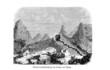 Schlackenkegel im Vesuv (Alte Lithographie)
