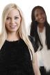 Europäerin u. Afrikanerin  - black and white woman
