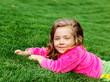 Preschool girl in park