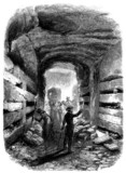 Visiting Catacombs - 19th century