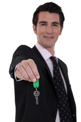 Estate-agent dangling house keys