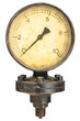 Leinwandbild Motiv Old industry display mano meter