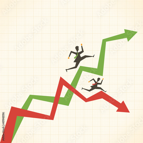 market move up and down stock vector