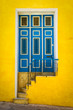 Colorful door on an old house in Havana
