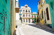 Sunny street in Old Havana on a beautiful day