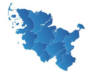 Schleswig Holstein Karte
