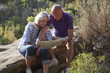mature couple in destination to senior happiness
