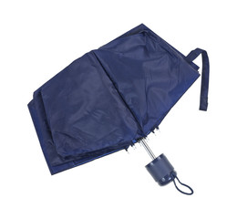 Compact Umbrella Black Partially Opened