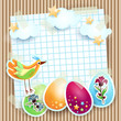 Easter background with bird