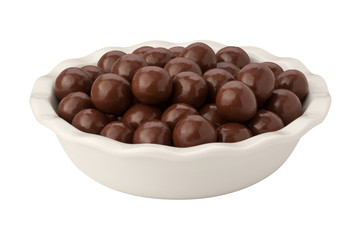 Chocolate Malt Balls isolated