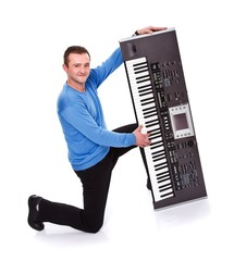 Man and his synth