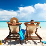 Fototapety Couple on a beach