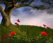 Fototapete Hintergrund - Erzählung - Wald