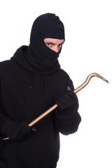 Einbrecher mit Brecheisen #bn