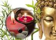 composition zen, yin-yang, bambou asiatique