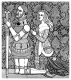 Middle-Ages : Praying Knight & Wife - 14th century