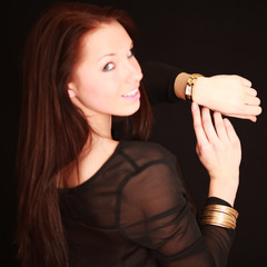 hübsches Model mit Uhr