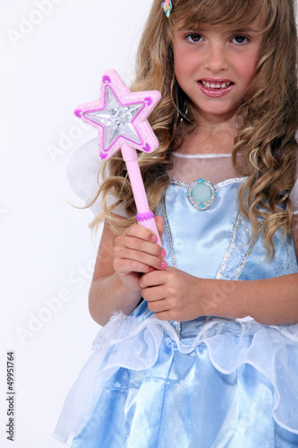 portrait of a little girl in fairy costume