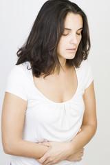 Frau mit Menstruation