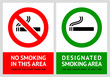No smoking and Smoking area labels - Set 13 - 49953168