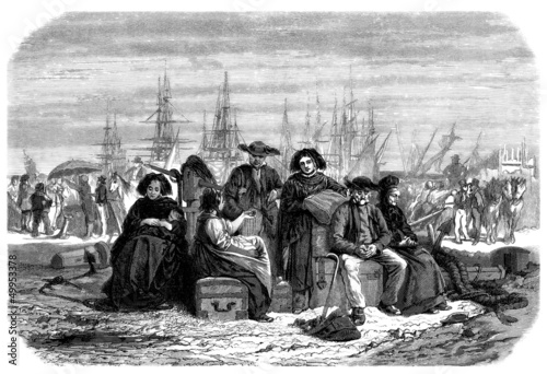 Emigrants to America - 19th century