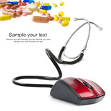 stethoscope computer mouse medical online concept