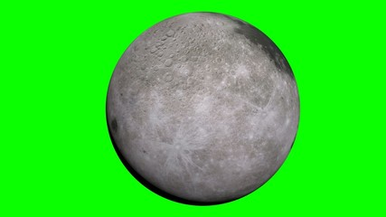 the moon with green screen