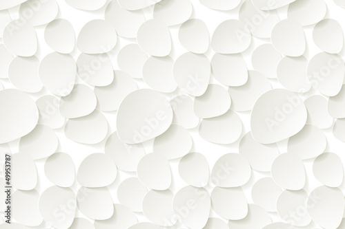 Weißen Rosen Blättern Hintergrund Pattern © AllebaziB