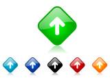 arrow up vector icon set