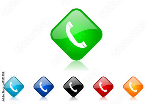phone vector icon set