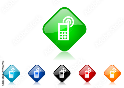 cellphone vector icon set