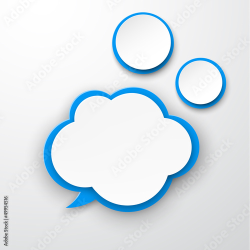 Paper white-blue cloud.