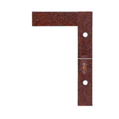 Number made from rust plate