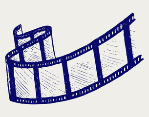 Film strip. Doodle style. Vector EPS 8