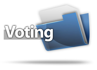"3D Style Folder Icon ""Voting"""